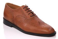 Unze Kayl Mens Leather Brogue Lace Up Shoes NIB Size 8 (EU 41)