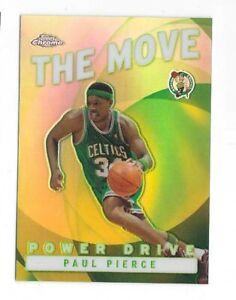 2002 Topps Chrome Basketball The Move Power Drive Refractor Paul Pierce Celtics