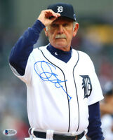 JIM LEYLAND SIGNED AUTOGRAPHED 8x10 PHOTO DETROIT TIGERS MANAGER BECKETT BAS