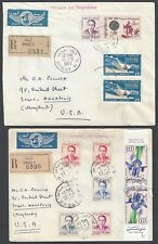 MOROCCO 1965 TWO REGISTERED RABAT COVERS AIR MAIL TO US