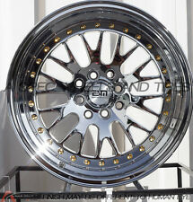 16X9 ESM 007 Wheels 4X100/114.3 PLATINUM RIMS +15 FITS 4 LUG HONDA CIVIC EK EG