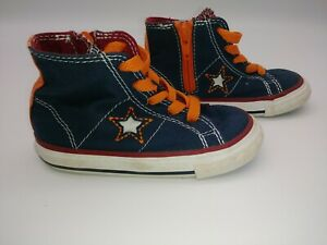 Converse One Star Shoes Toddler Boy Size 7 Blue And Orange