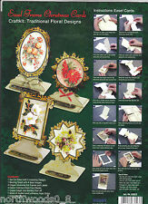 CHRISTMAS EASEL KIT PAPER TOLE DIMENSIONAL GERMANY CARD ORNAMENT FLORAL