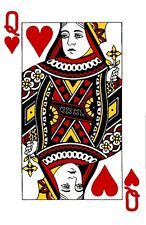 QUEEN OF HEARTS PLAYING CARD  IRON ON T SHIRT TRANSFER