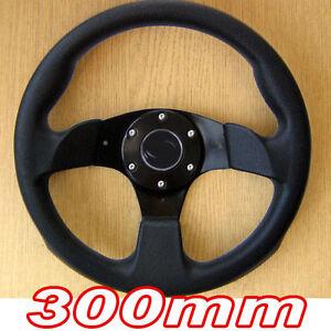 300mm Black Sports Steering Wheel for Toyota Hilux Supra MR2 Celica Corolla Aygo
