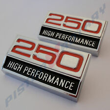 250 HIGH PERFORMANCE Guard Badge x2 (PAIR) NEW for Ford Falcon XY 2V Fairmont GT