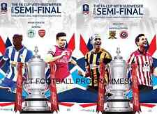 * BOTH 2014 FA CUP SEMI-FINAL PROGRAMMES - ARSENAL v WIGAN & HULL v SHEFF UTD *