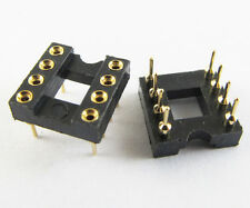 60pcs IC Socket Adapter 8 PIN Round DIP High Quality Gold