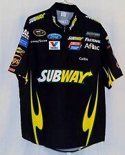 Carl Edwards Roush Fenway Subway 2013 Race Used NASCAR Pit Crew Shirt  Size XL