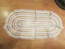 ancien grand napperon chemin de table ajouré fil de coton dentelle