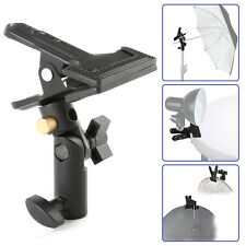 Studio Swivel Light Stand Reflector Background Heavy Duty Holder Clip Clamp 5/8""