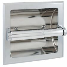 LDR 162 4634 Toilet Paper Holder Recessed with Brackets Prestige Chrome Finish