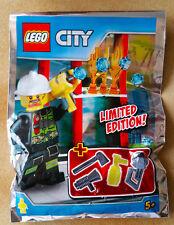 LEGO FIGURINE POLYBAG LIMITED SCELLE MINIFIGURINE CITY LE POMPIER FIREMAN ET FEU
