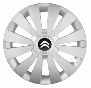 "16"" Wheel trims wheel covers fit Citroen Berlingo Dispatch C4 C5 silver NEW"