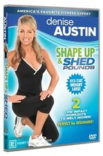Denise Austin: Shape Up and Shed Pounds * NEW DVD * exercise fitness