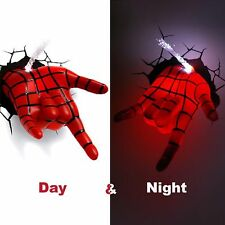 3D Light FX Spiderman Hand Deco LED Night Light, Tested and ships with batteries