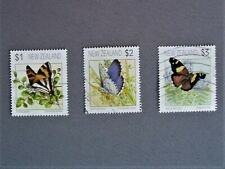 New Zealand stamps - 1991 Butterflies - Set of 3 Fine Used.