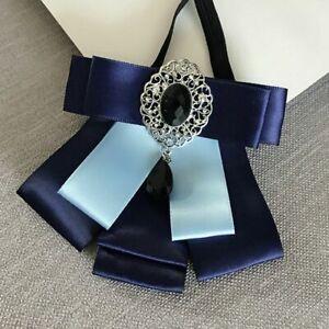Elegant Adult Bow Tie Unisex Neck Collar Shirt Alloy Rhinestone Wedding Neckties