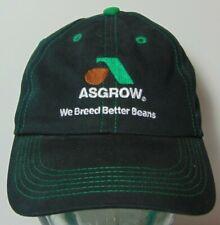 Asgrow Farm Beans Farmer Black & Green Advertising Farm Hat Cap K-Products USA