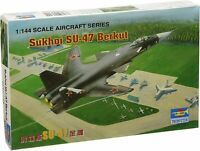 1:144 scale model kit SUKHOI SU-47 BERKUT MILITARY AIRCRAFT BY TRUMPETER