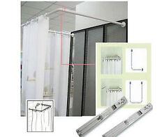 ALU Winkelstange Duschvorhangstange Duschvorhang Stange Dusche Aluminium 80cm U