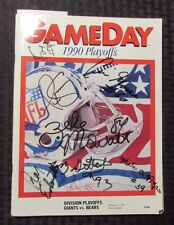 1990 Gameday Division PLAYOFFS Program FN+ Phil Simms SIGNED 6X Cross Mowatt Fox