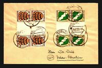 Germany 1947 French Zone Cover / Gutter Blocks of 4 (x2) - Z14141