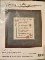 "Cross Stitch Kit Sandi Phipps ""Our Home""  #691 New Sealed Floral DIY Frame"