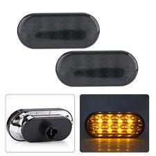 2x Amber LED Side Marker Light Lamp For VW Passat B5 B5.5 Jetta Bora Golf MK4 EB