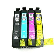 NEW 4 PACK GENUINE EPSON 220-I T220 INK CARTRIDGE SET WF-2750 WF-2760