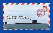 USS Baton Rouge SSN-689 15th Anniversary June 25, 1992 - Rogak Cachet