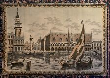 Magnificent Large Antique Tapestry Venice Italy 100+ Year Old Wall Hanging 170cm