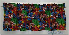 "Marvel Avengers Comic Super Hero Handmade Window Curtain Valance 42"" W x 13"" L"