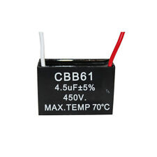 450V 4.5UF CBB61 Ceiling Fan Motor Running Capacitor 2 Wire 50/60 Hz