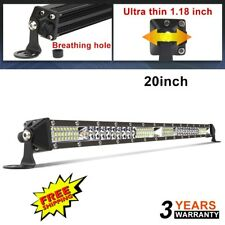 "Slim Single Row 20inch Led Light Bar Spot Flood Combo 4WD ATV SUV VS 19"" 21"" 22"""