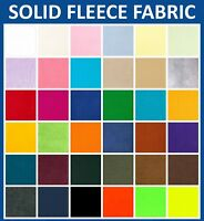 "Solid Fleece Fabric - 60"" Wide - 36 Colors -  Sold By The Yard"
