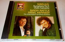 SIBELIUS-VIOLIN CONCERTO/SYMPHONY NO. 5-UK CD 1988-SIMON RATTLE/NIGEL KENNEDY