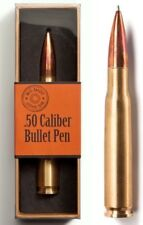 BIG SHOT .50 CALIPER BULLET AMMO SHELL INK PEN REPLICA - NEW IN RETAIL GIFT BOX