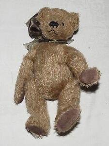 "Judith Tofp 10"" Wee Paws Teddy Bear with Large Brown Bow"