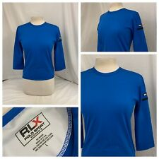 Rlx Golf Pullover L Blue Womens Polyester Lycra 3/4 Sleeve EUC YGI V0-78
