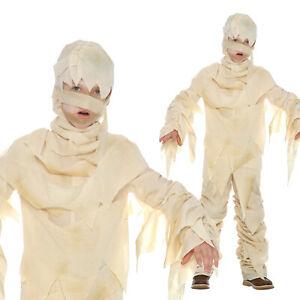 Kids Egyptian Mummy Costume For Boys Girls Halloween Book Week Fancy Dress S - L
