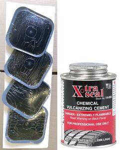 4 X Combi Mushroom Truck Tyre Plug Patch Repair 11MM Stem, 80MM + 1 Cement/Glue