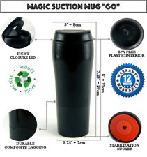 Magic Suction Mug Go Black Travel Coffee Cup for All Mighty Hikes Gift