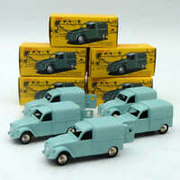 Lot of 1:43 Atlas DAN Toys CITROEN 2CV FOURGONNETTE ESPAGNOLE Postal Car Diecast