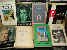 OPERA - Libri su compositori operistici, ottime condizioni, a 15 € cadauno.