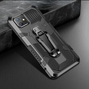 Outdoor Rüstung Silikon Handy Hülle mit Metal Clip Für Samsung Note 20 iPhone 12