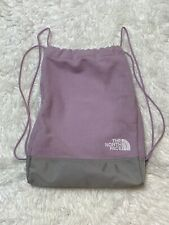 The North Face Purple Fleece Drawstring Backpack Gym Bag