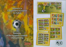 Rumänien 2016 Fußball EM Frankreich,Soccer,Football,Calcio Mi.7081-84,Zf.,KB,FDC