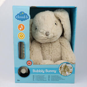 Cloud B Bubbly Bunny Plush Sleep Soother with 4 Soothing Sounds