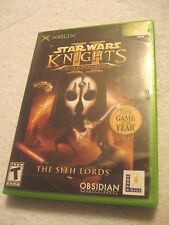 Star Wars: Knights of the Old Republic II Sith Lords For Xbox Rare COMPLETE CIB!
